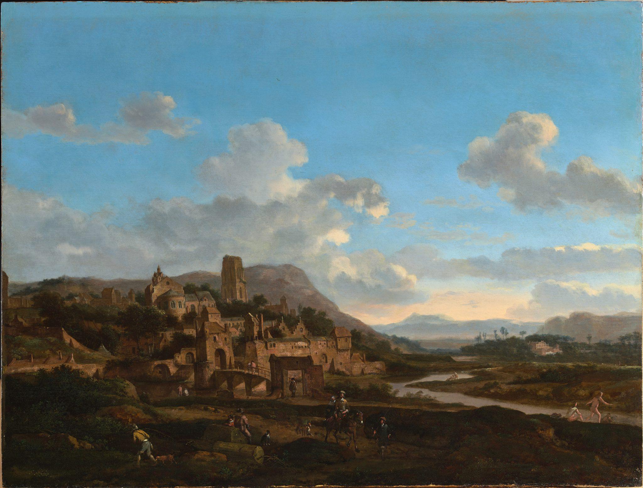 A hilltop town beside a river