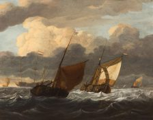 Ships in a rough Sea