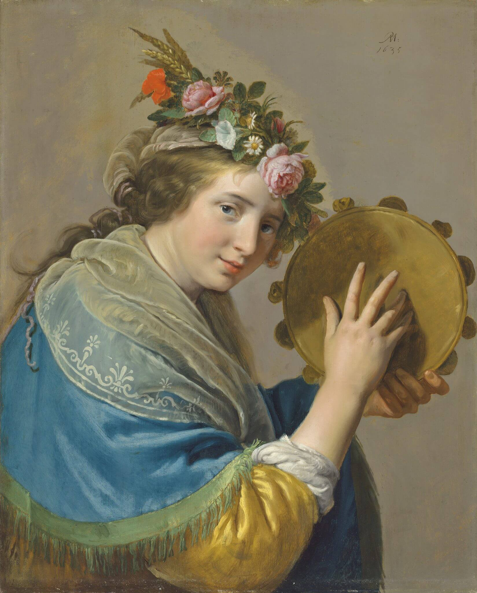 Shepherdess with a Tambourine