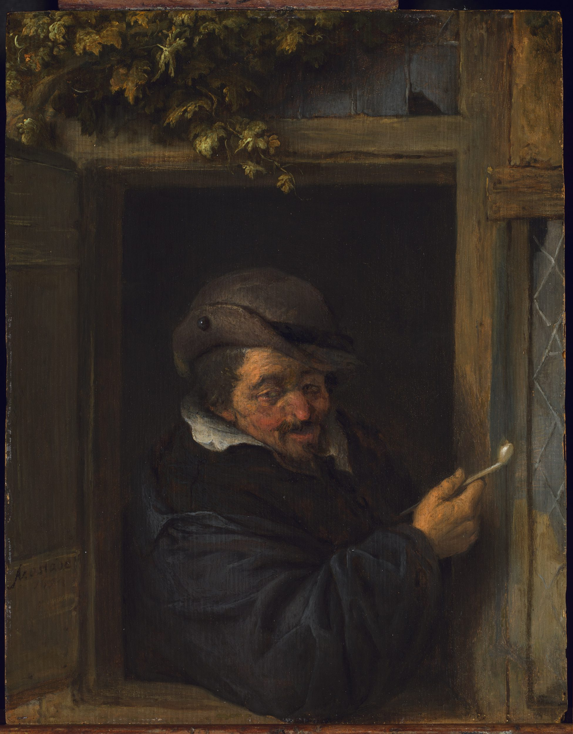 A Man Smoking