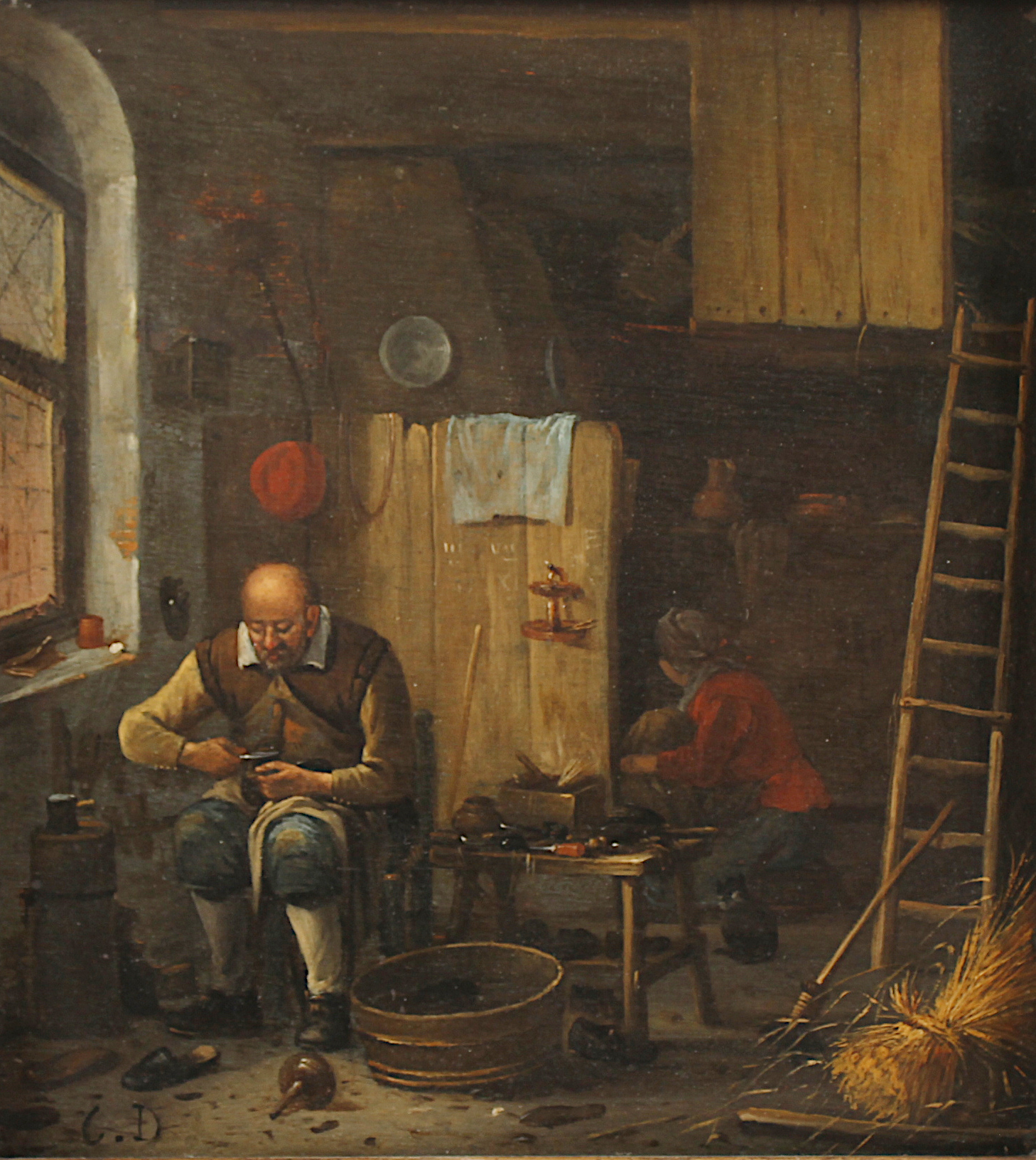 The Shoemaker in his studio