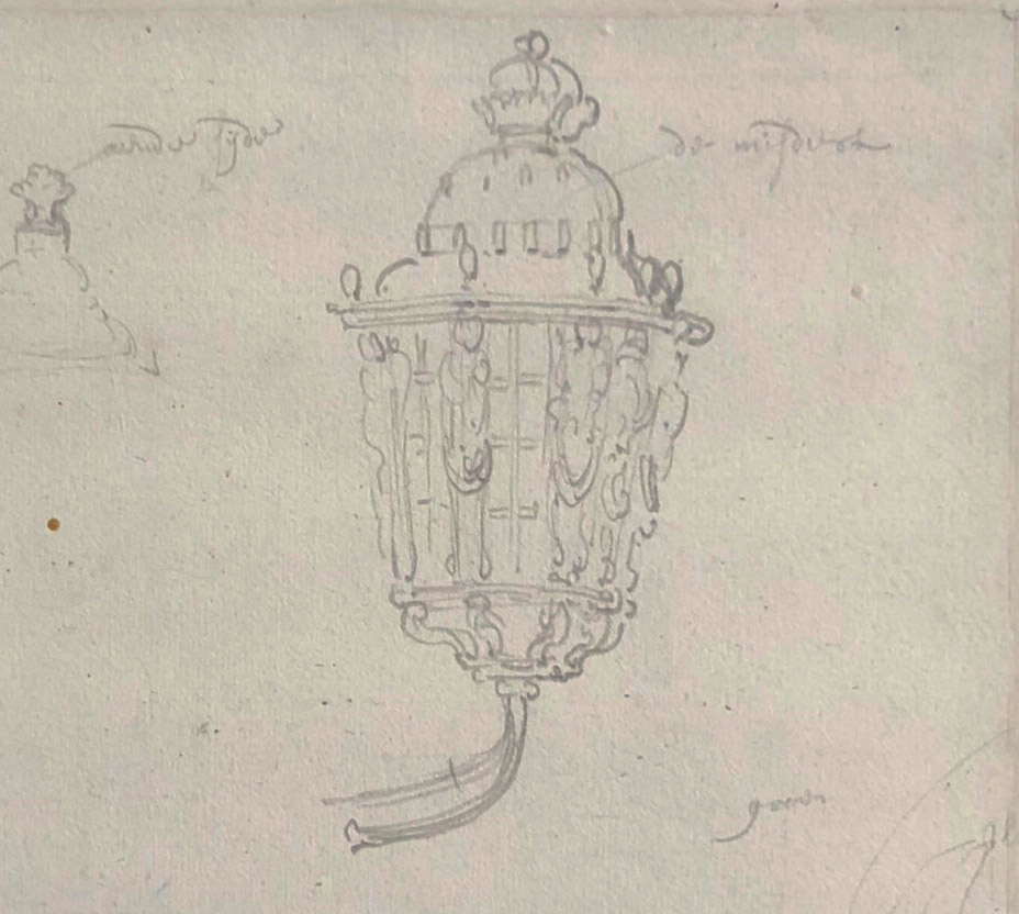 English Ships at Sea/ verso: Study of Lanterns