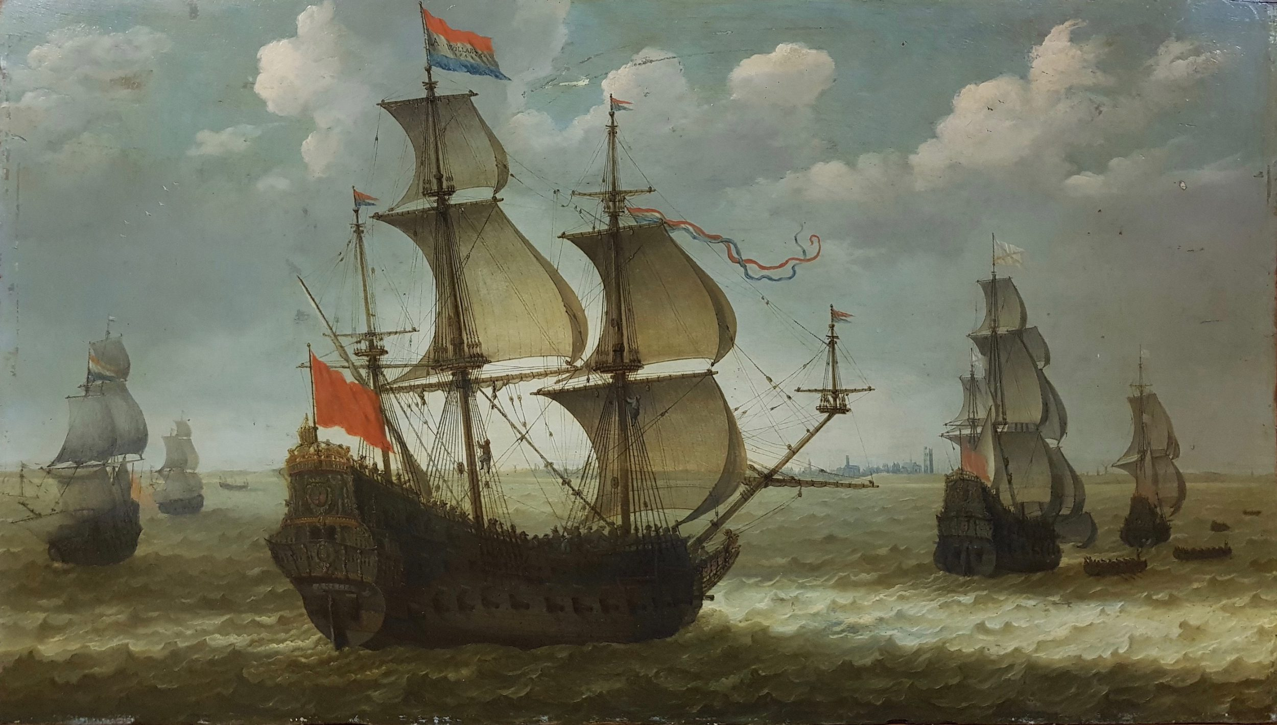 De Amelia off the Coast of Dunekerk