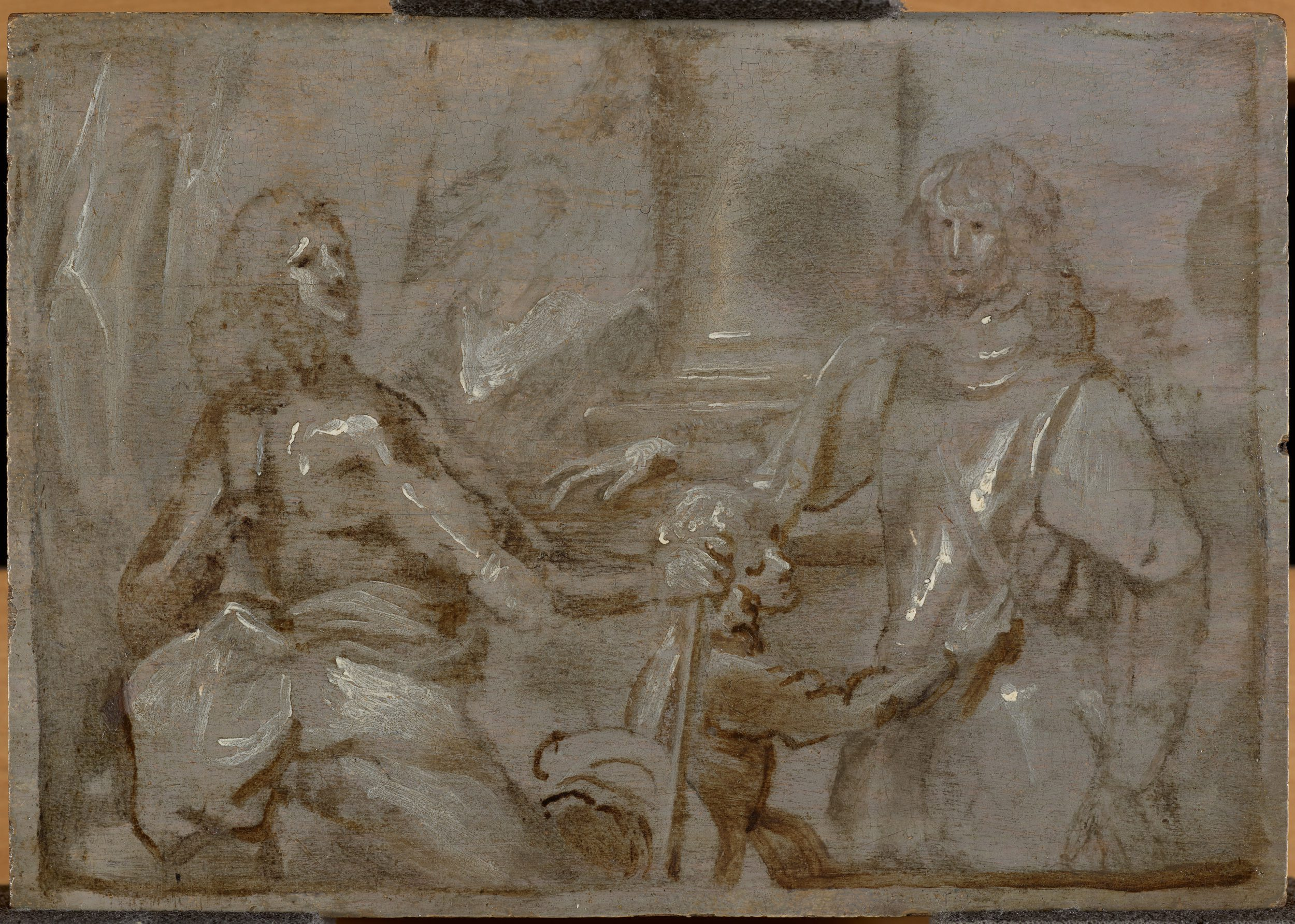 Sketch for the double Portrait of Mountjoy Blount, 1st Earl of Newport