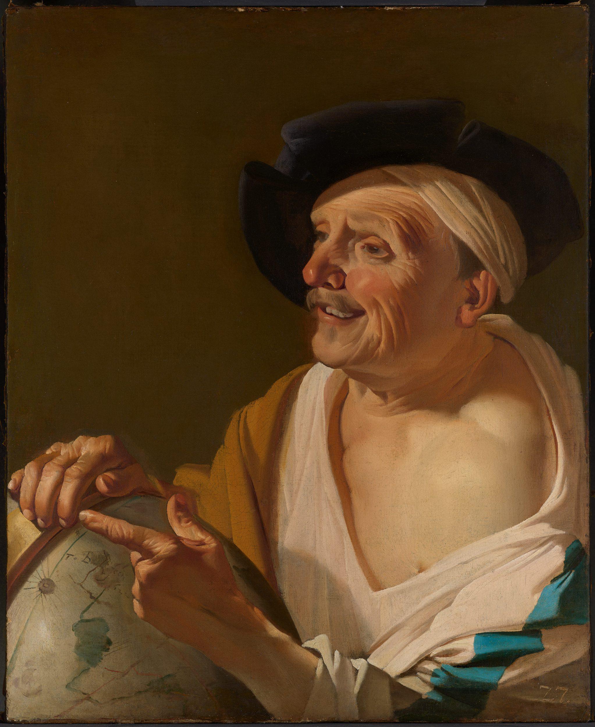 Democritus laughing