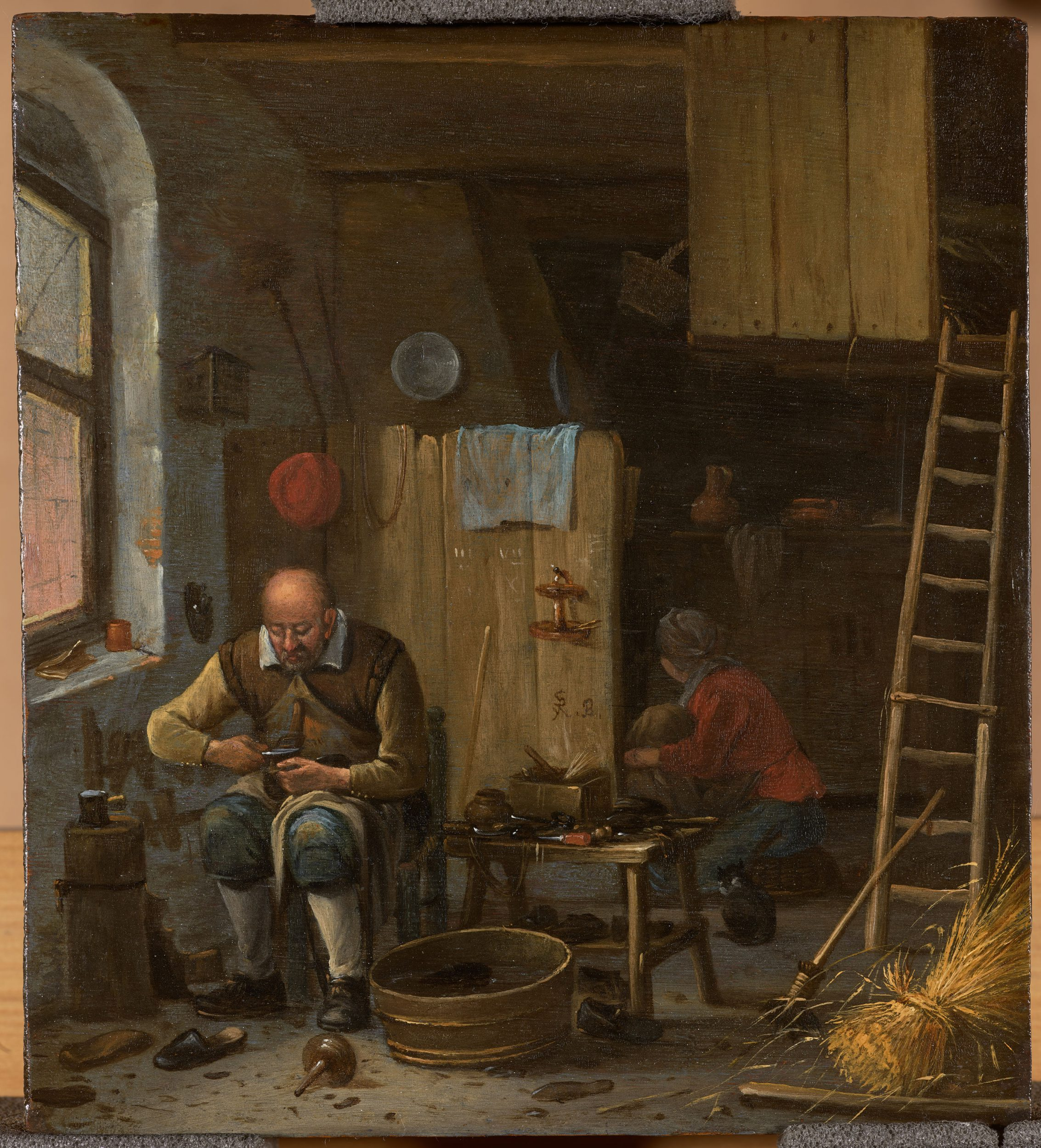 The Shoemaker in his studio