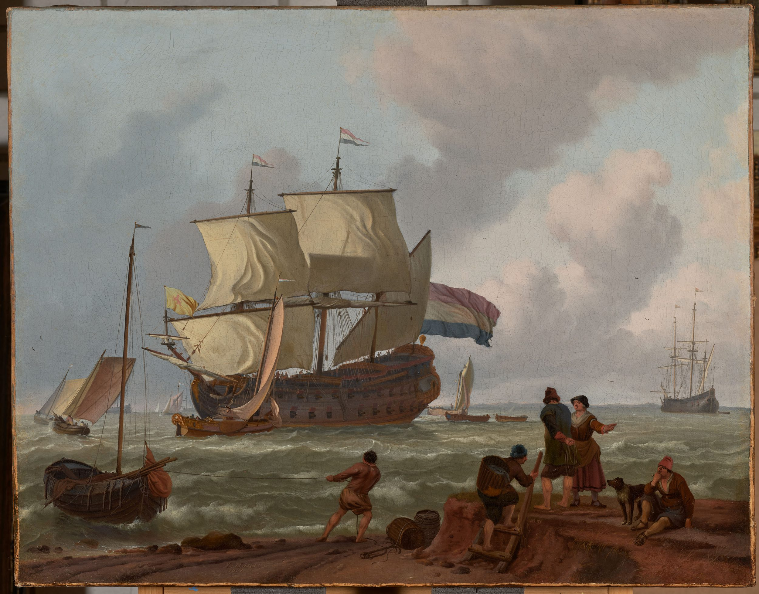A Dutch Marine Painting