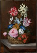 Still Life of a Basket of Flowers